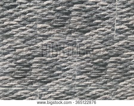 Compound Wall Or Residential Building Villa Exterior Wall Tile With Stone Pitching Pattern Abstract
