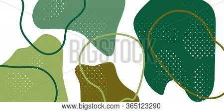 Modern Camouflage Composition. Vector Green Fluid Cover. Fashion Army Military Pattern. Summer Camou
