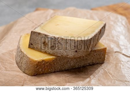 French Cheese Comte Fruity Flavoured Fruite And Vieille Reserve Close Up
