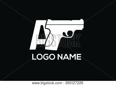 Pistol Logo Sign Symbol, Pistol Emblem Design