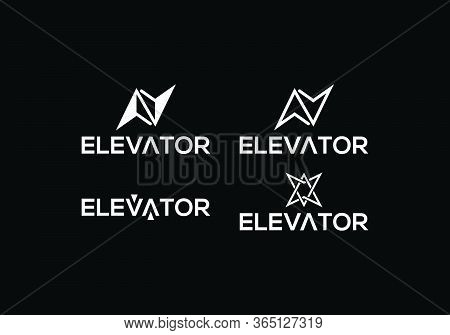 Elevator Logo Design Template. Elevator Logo Sign Symbol