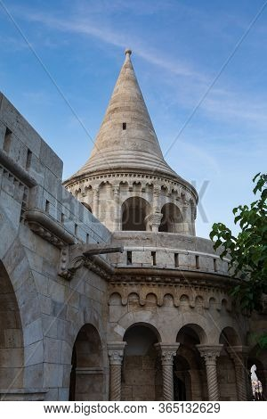 Fisherman's Bastion, Popular Tourist Attraction In Budapest, Hungary.