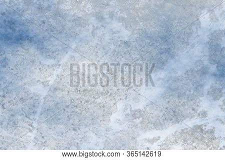 Gray Stucco Wall Texture Background. Blue Fog.