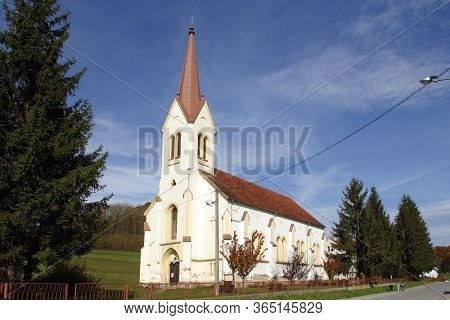 LUKA, CROATIA - OCTOBER 02, 2012: Saint Roch's Church in Luka, Croatia