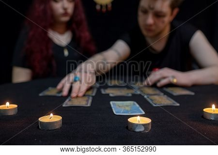 Tarot Cards And Other Fortune Teller Talking About Future
