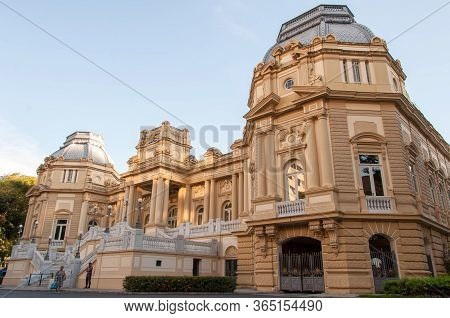 Rio De Janeiro, Brazil - July 20, 2015: Governor's Office Guanabara Palace In Laranjeiras District I