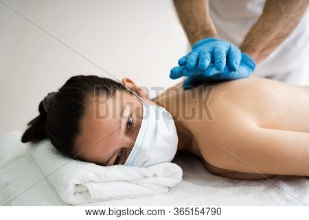 Acupressure Massage And Physio Pain Therapy In Face Mask