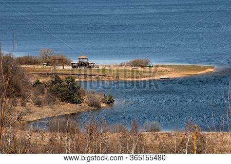 Vlasina Lake Scenery, Eastern Serbia. Springtime, Beautiful Nature
