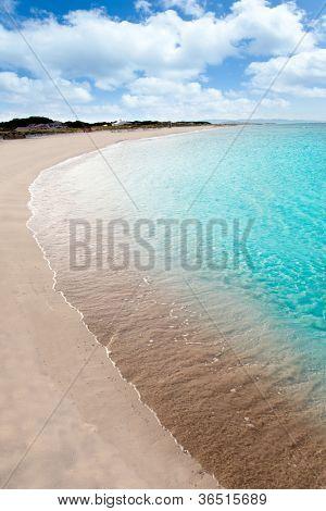 beach llevant formentera called playa tanga