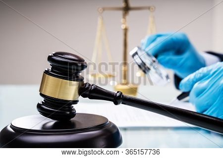 Lawyers Inspecting Legal Regulations. Scrutiny And Arbitration