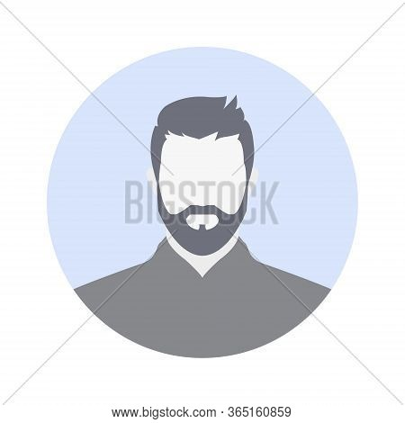 Guest Avatar Vector Illustration. Default Male Profile Icon Image