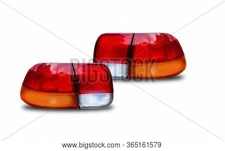 Headlights And Taillights Separated From The Technology Background Car Headlight Technology White Ca