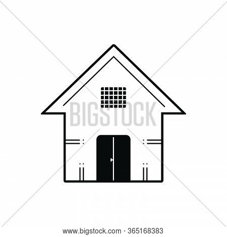 Black Solid Icon For House Premises Dwelling Residence