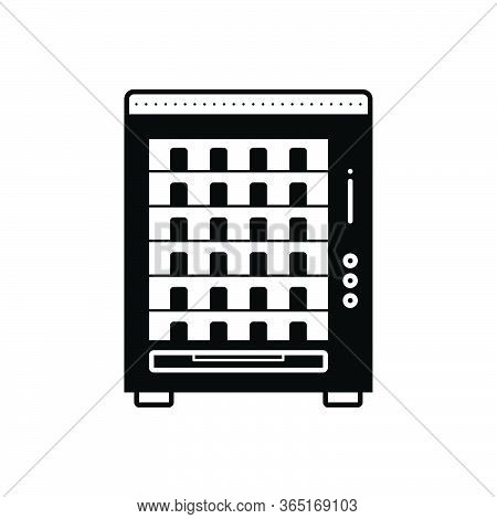 Black Solid Icon For Vending Machine Merchandise Trading Appliances