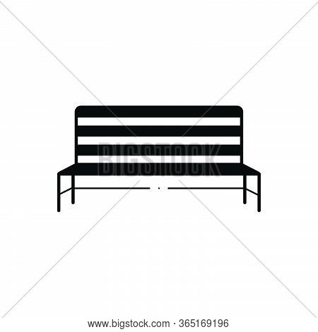 Black Solid Icon For Metal Bench Pew Seat Street-bench