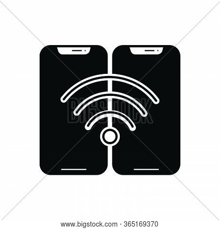 Black Solid Icon For Wifi-connection Wifi Connection Phone Wireless Trendy Internet