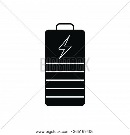 Black Solid Icon For Battery-indicator Battery Indicator Powerful Electricity Charger