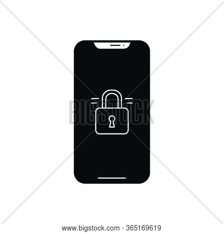 Black Solid Icon For Unlocked-phone Unlocked Phone  Unsecured Insecure