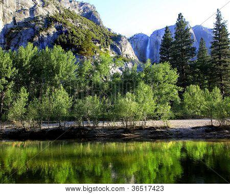 Merced River with Yosemite Falls