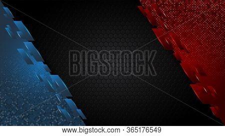 Background Redblue