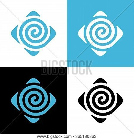 Swirl Logo Design Template Elements, Abstract Spiral Icon
