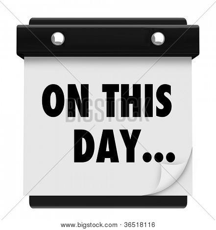 Die Worte auf dieser Tag markiert ein wichtiges Datum in einem Wandkalender erinnert Sie an eine wichtige Eva