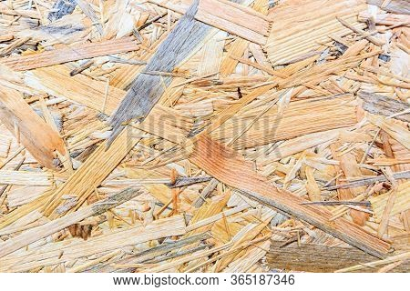 Plywood Texture. Osb Wood Board For Background Decoration.