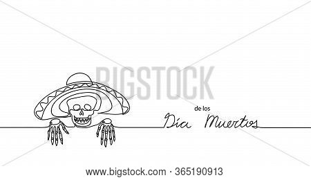 Dia De Los Muertos. Day Of The Dead. Vector Background, Banner. Mexican Traditional Carnival, Holida
