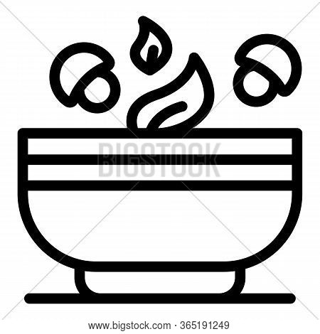 Salad Bowl Icon. Outline Salad Bowl Vector Icon For Web Design Isolated On White Background