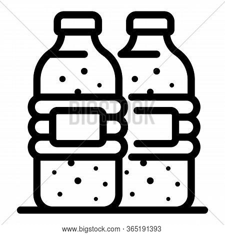 Mineral Water Icon. Outline Mineral Water Vector Icon For Web Design Isolated On White Background