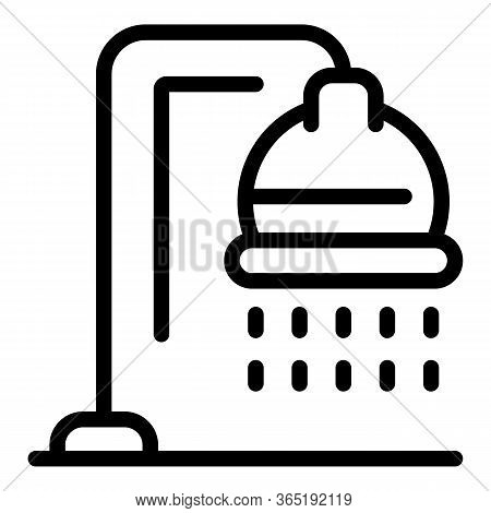 Shower Icon. Outline Shower Vector Icon For Web Design Isolated On White Background