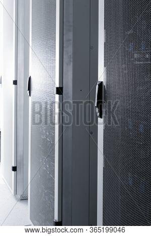 Shot of datacenter with server racks