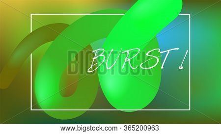 Funky Neon Blend Vector Background. Trendy Colorful Vibrant Horizontal Banner. Fluid Neon Bright Tre