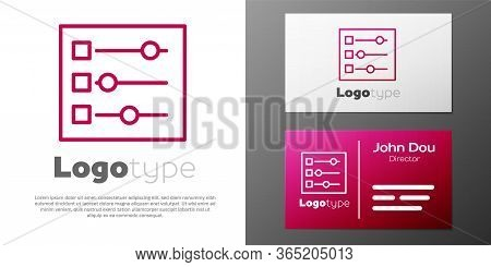 Logotype Line Car Settings Icon Isolated On White Background. Auto Mechanic Service. Repair Service