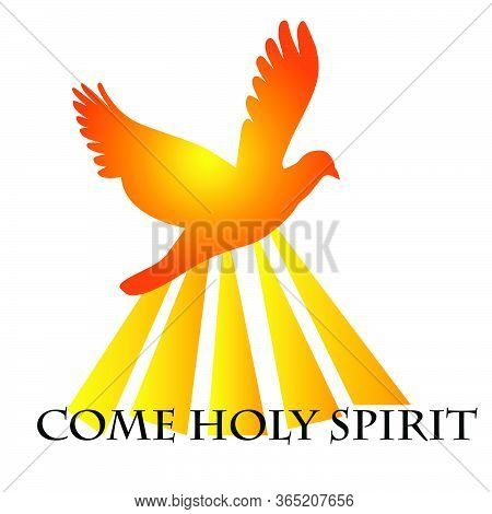 Pentecost Sunday Special Card, Typography For Print Or Use As Poster, Card, Flyer Or T Shirt