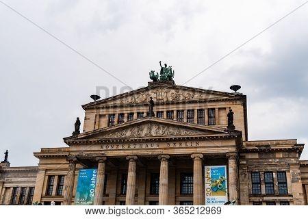 Berlin, Germany - July 29, 2019: View Of Gendarmenmarkt Square In Berlin Mitte A Rainy Day Of Summer