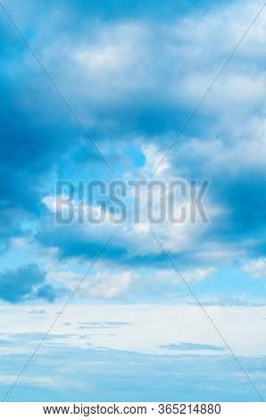 Dramatic blue sky background. Colorful sky view in bright tones. Cloudy sky landscape, sky background with white dramatic clouds. Sky scene, blue sky background. Sky nature view, vast sky nature scene. Sky background