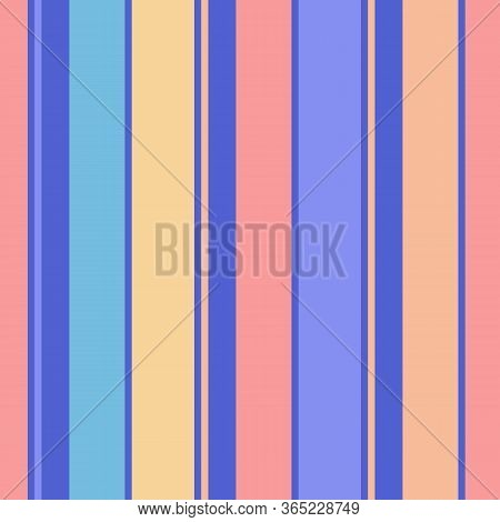 Vector Vertical Stripes Pattern. Simple Seamless Texture With Thin And Thick Lines. Modern Abstract