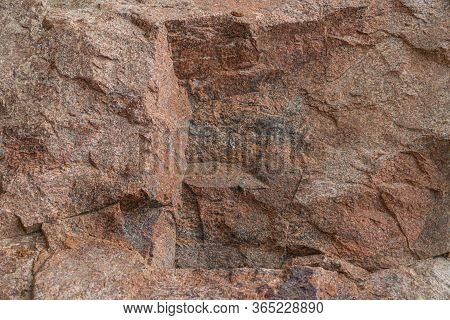 Molybdenite Ore Texture Close-up. Contains Feldspar, Quartz, Molybdenite, Pyrite, Chalcopyrite. Sibe
