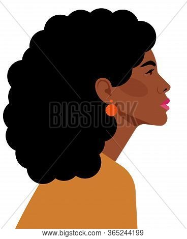 Portrait Of Beautiful Latina Woman. Confident Strong Woman Looks Forward. Feminist, Professional, Mo
