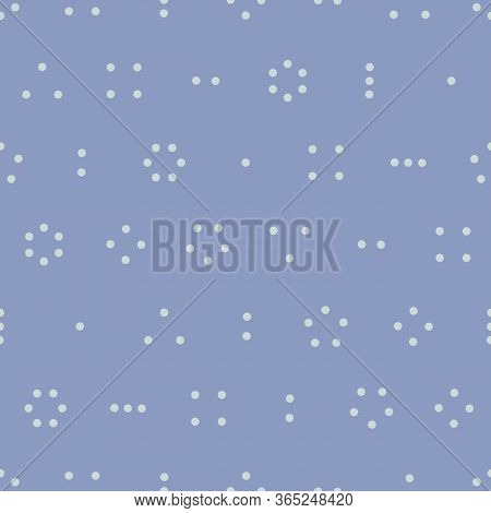 Simple Blue Dot, Spotty Vector Repeat. Great For Scrapbooking, Backgrounds, Fashion, Home, Kids.