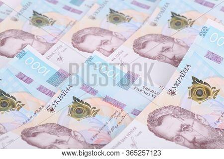 Ukrainian Hryvnia, Several Banknotes Of 1000 Hryvnias. Financial Background From Ukrainian Banknotes