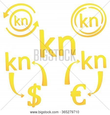 3d Croatian Cuna Currency Symbol Icon Of Croatia Vector Illustration On A White Background