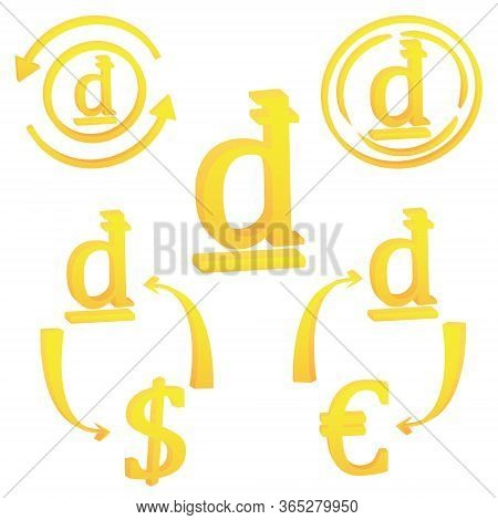 3d Vietnamese Dong Currency Symbol Icon Of Vietnam Vector Illustration On A White Background