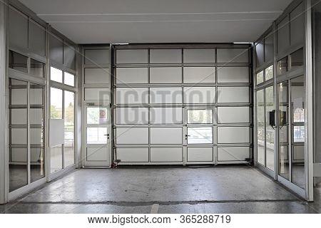 Sectional Motorized Large Metal Commercial Garage Door