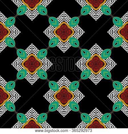 Elegant Greek Vector Seamless Pattern. Geometric Modern Ornate Background. Repeat Geometrical Backdr