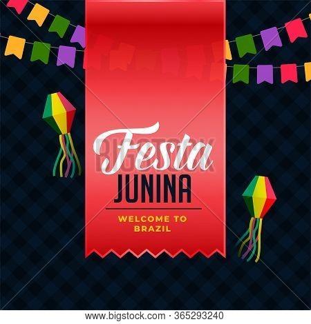 Latin American Festa Junina Holiday Background Vector Design Illustration
