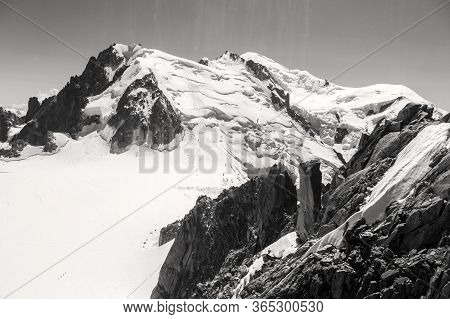 Mont Blanc Three Mounts Route (par Les 3 Monts) Over Mont-blanc Du Tacul, Mont Maudit And The Main A