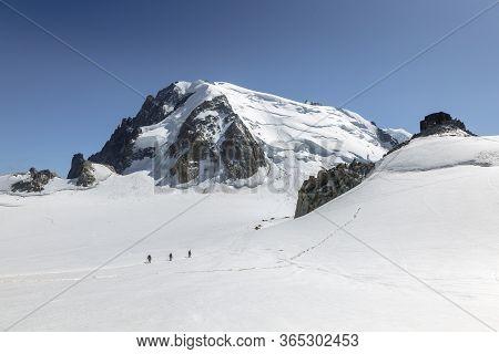 Mont Blanc Three Mounts Route (par Les 3 Monts) Over Mont-blanc Du Tacul, Mont Maudit And The Main A