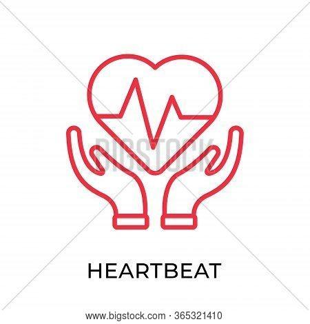 Heartbeat. Heartbeat icon. Heartbeat line vector. Heart beat icon vector. Heartbeat illustration template. Heartbeat logo design. Medical Heartbeat icon vector. Heartbeat vector icon flat design for web icons, logo, sign, symbol, app, UI.